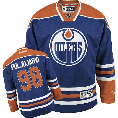 best service 53637 10076 Mens Reebok Edmonton Oilers 98 Jesse Puljujarvi Premier ...