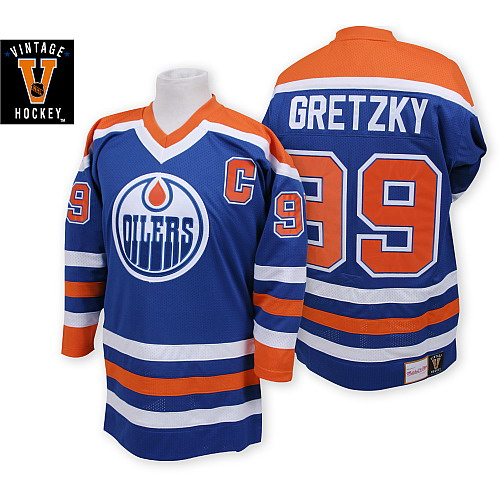 buy popular 0a080 cb368 Mens Mitchell and Ness Edmonton Oilers 99 Wayne Gretzky ...